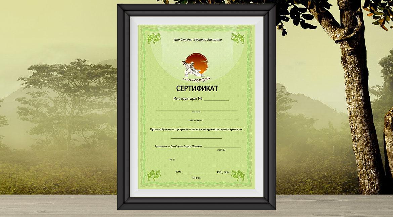 Сертификат инструктора
