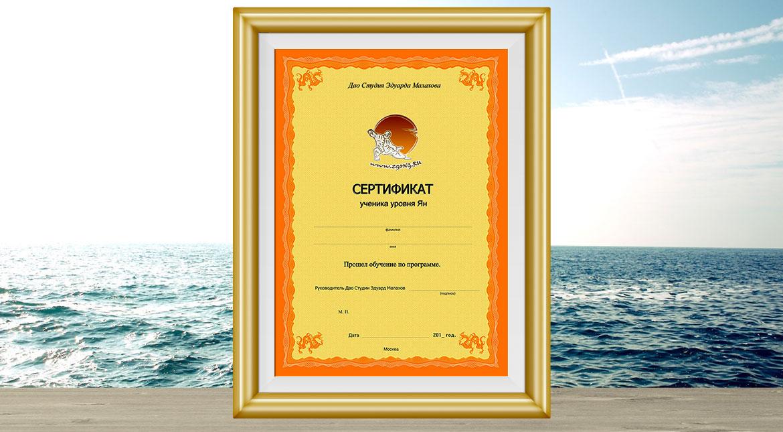 Сертификат Ян
