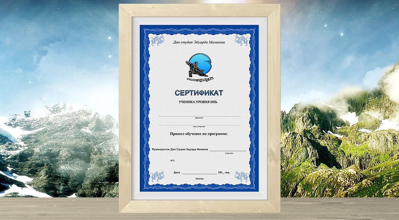 Сертификат уровня Инь